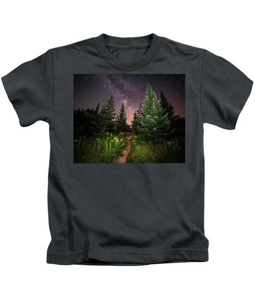 The Path To The Milky Way In Albany New Hampshire Kids T-Shirt