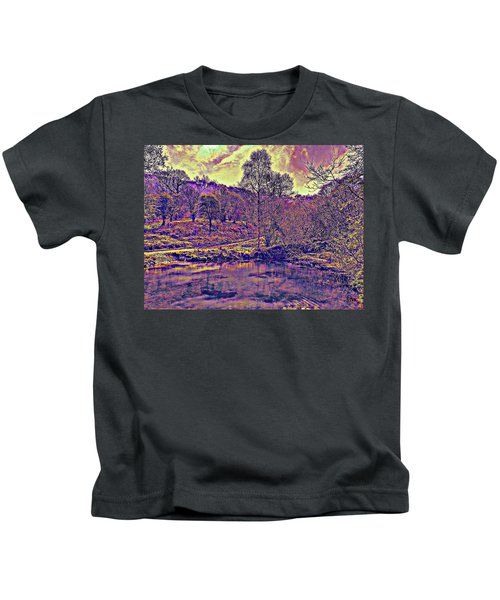 The  Pond  At  Twilight Kids T-Shirt