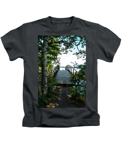 The Rock River Foot Bridge Kids T-Shirt