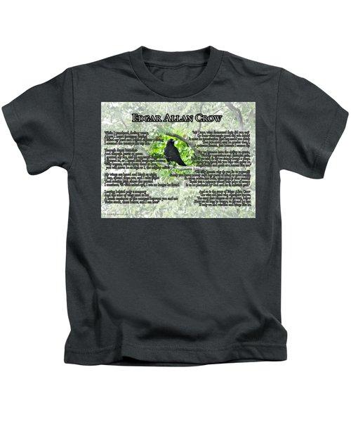 The Story Of Edgar Allan Crow Kids T-Shirt