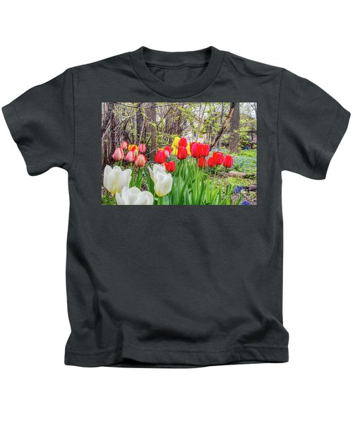 The Tulips Are Out. Kids T-Shirt