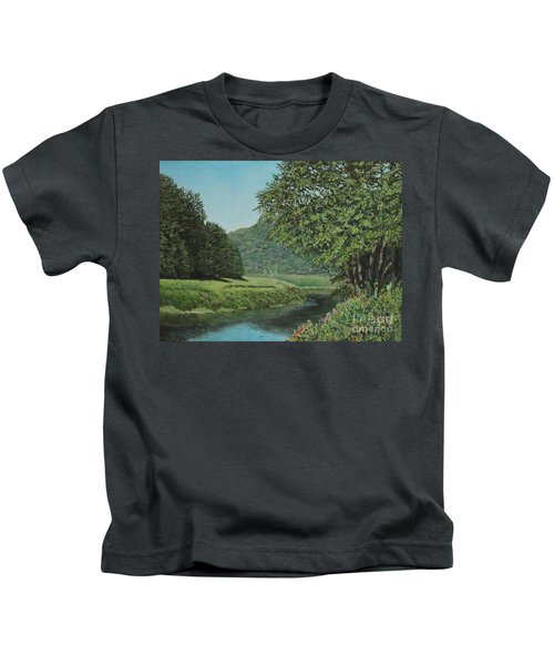 The Wye River Of Wales Kids T-Shirt
