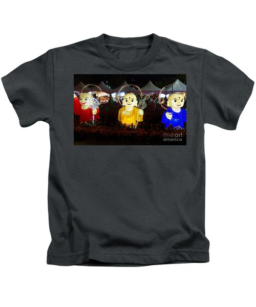 Three Lanterns In The Shape Of Buddhist Monks Kids T-Shirt
