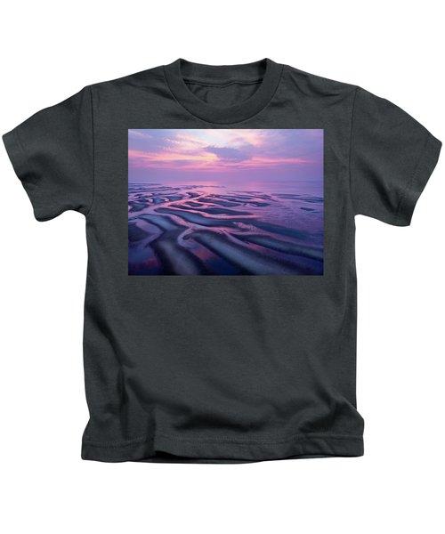 Tidal Flats Sunset Kids T-Shirt