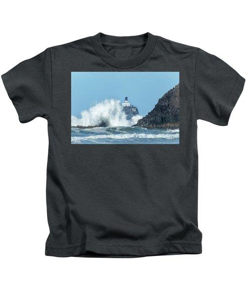 Tillamook Rock Light House, Oregon - Terrible Tilly Kids T-Shirt