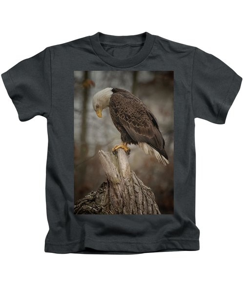 Tired Eagle Dad  Kids T-Shirt