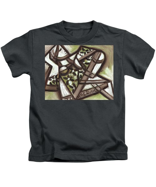 Tommervik Cubist Hawaiian Woman Art Print Kids T-Shirt