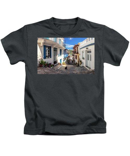 Town Of Skopelos Kids T-Shirt