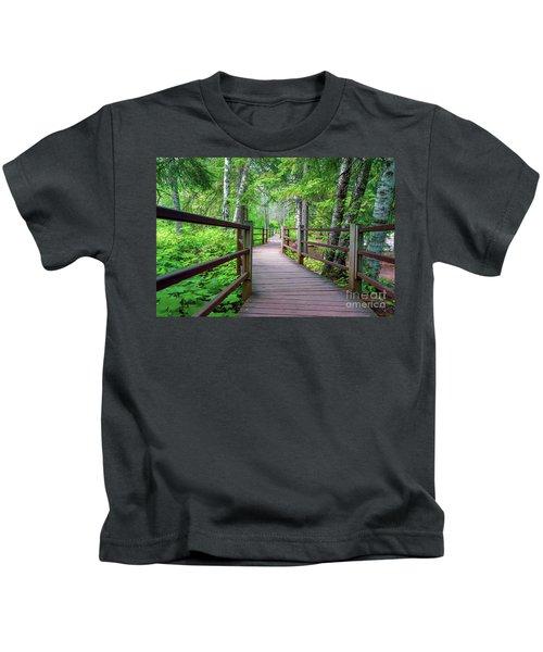 Trail At Gooseberry Falls Kids T-Shirt