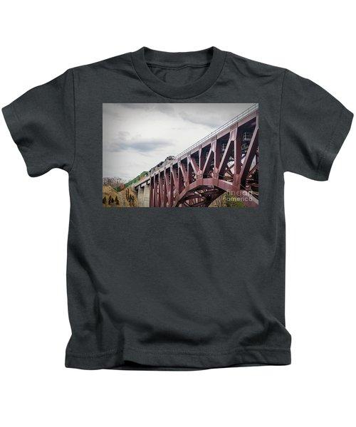 Train Over Letchworth Kids T-Shirt