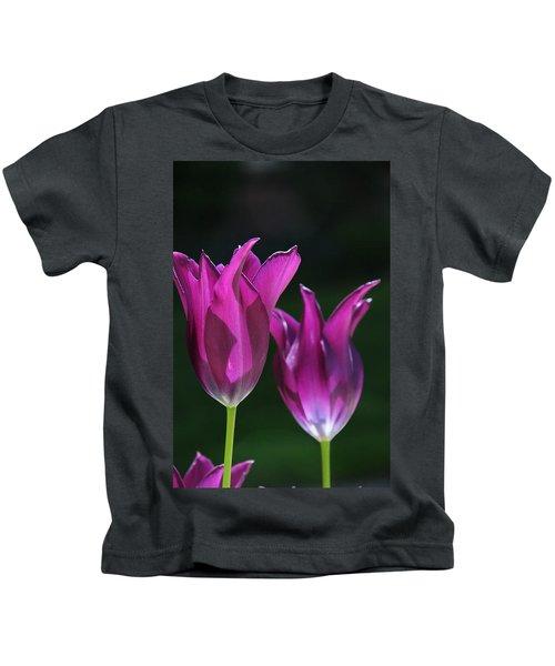Translucent Tulips Kids T-Shirt