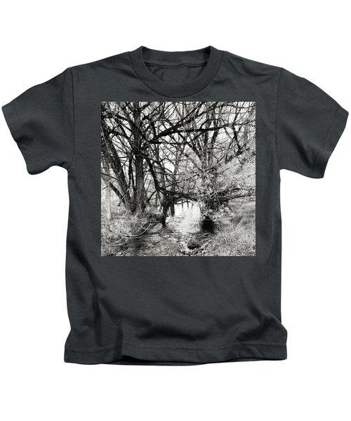 Trees Over Creek Kids T-Shirt