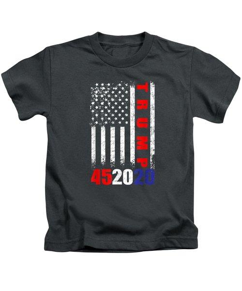 Trump 452020 American Flag 4th Of July T-shirt Kids T-Shirt