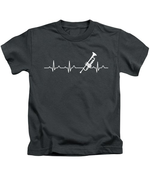 Trumpet Heartbeat For Your Hobbie Tees Kids T-Shirt