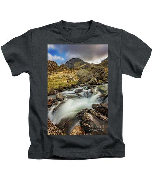 Tryfan Mountain North Wales Kids T-Shirt