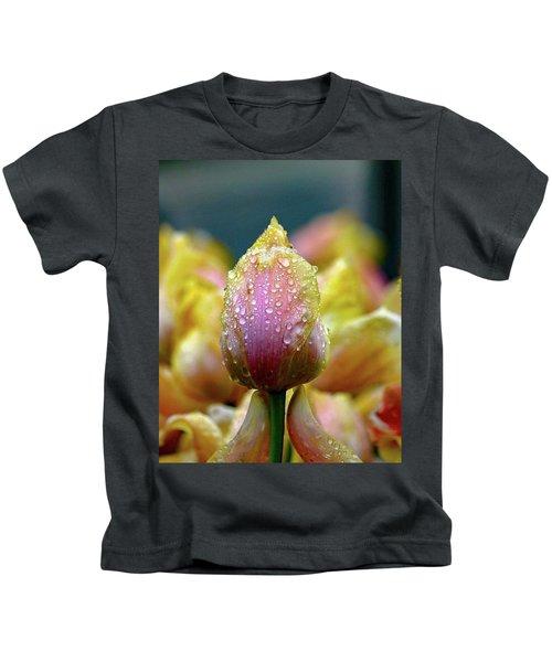 Tulips In The Rain Kids T-Shirt