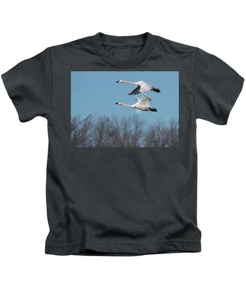 Tundra Swan Duo Kids T-Shirt