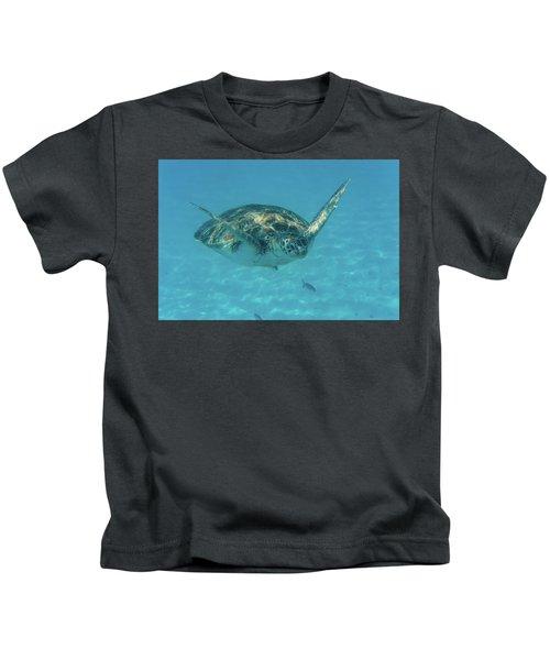 Turtle Approaching Kids T-Shirt