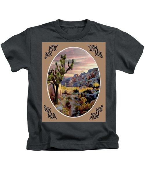 Twlight At Joshua - Oval Kids T-Shirt