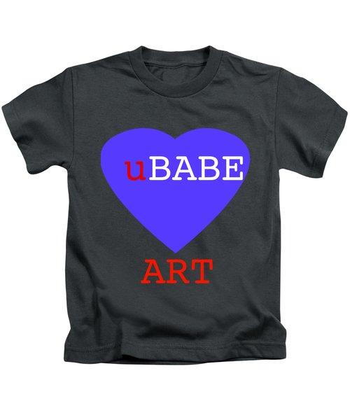 uBABE Blue Love Kids T-Shirt