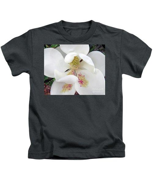 Unfolding Beauty Of Magnolia Kids T-Shirt