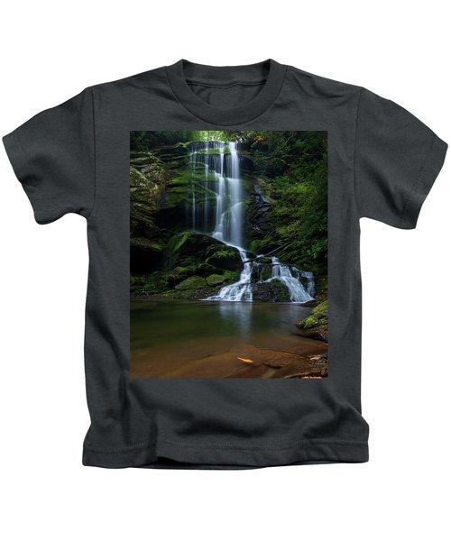 Upper Catawba Falls, North Carolina Kids T-Shirt