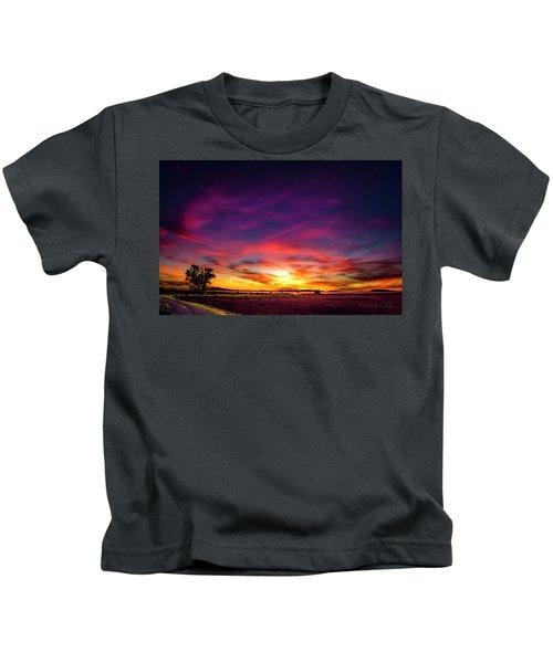 Valentine Sunset Kids T-Shirt