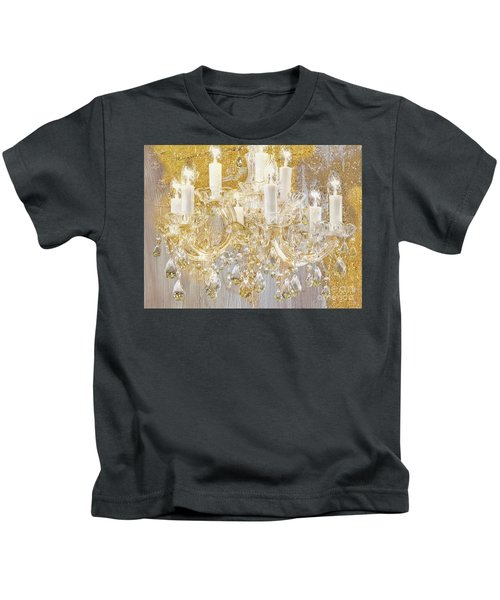 Versailles, French Shabby Glam Chandelier Kids T-Shirt