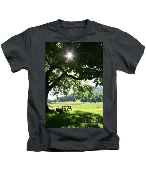Vineyard In Georgia Kids T-Shirt