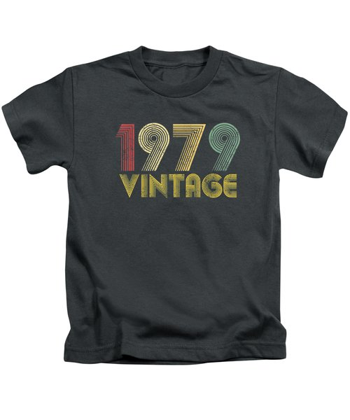 Vintage 1979 40th Birthday Gift 40 Years Old Funny T-shirt Kids T-Shirt
