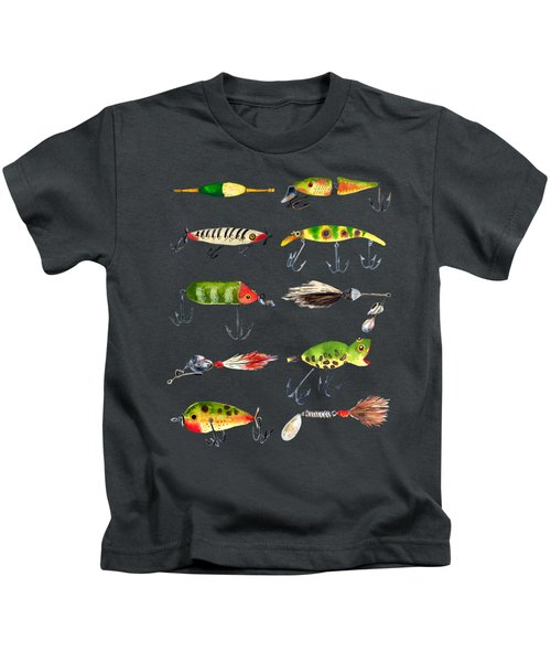 Vintage Fishing Lures Kids T-Shirt