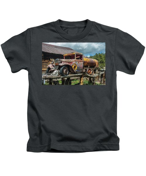 Vintage Ford Tanker Kids T-Shirt