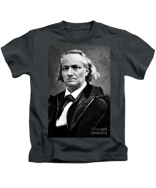 Vintage Photo Of Charles Baudelaire Kids T-Shirt