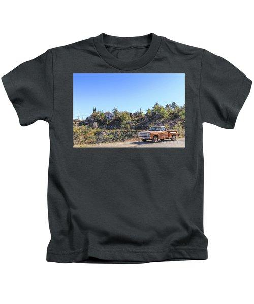 Vintage Pickup Truck Jerome Arizona Kids T-Shirt