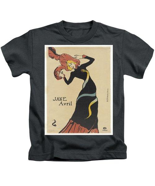 Vintage Poster - Jane Avril Kids T-Shirt