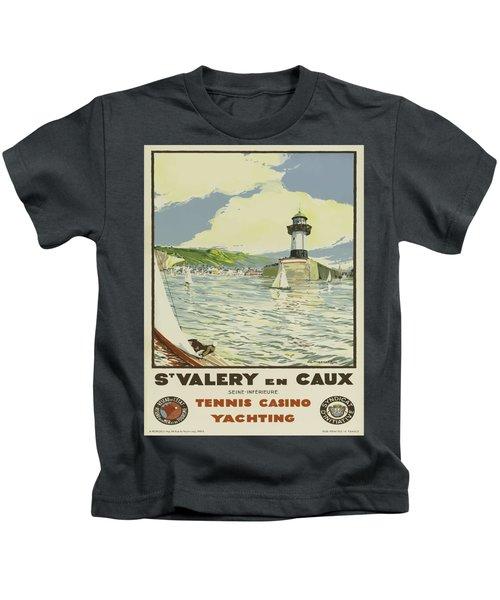Vintage Poster - St. Valery En Caux, France Kids T-Shirt