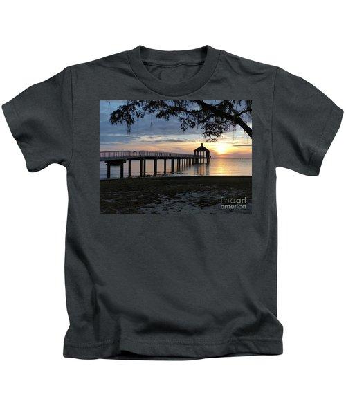 Walking Bridge To The Gazebo Kids T-Shirt