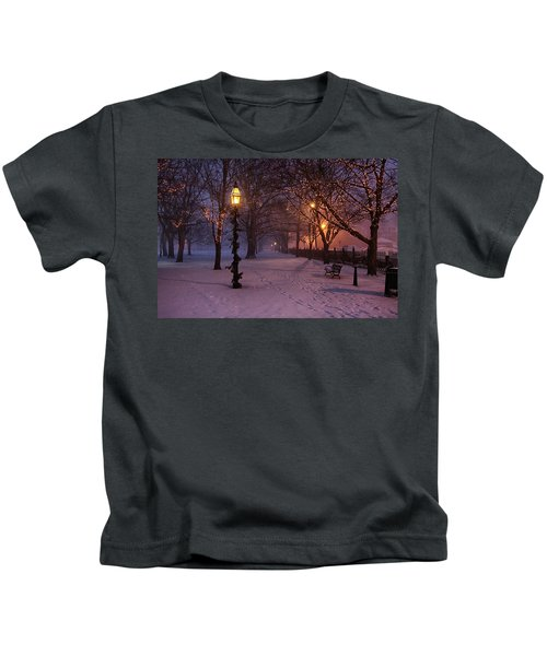 Walking The Path On Salem Ma Common Kids T-Shirt