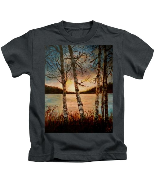 Warm Fall Day Kids T-Shirt