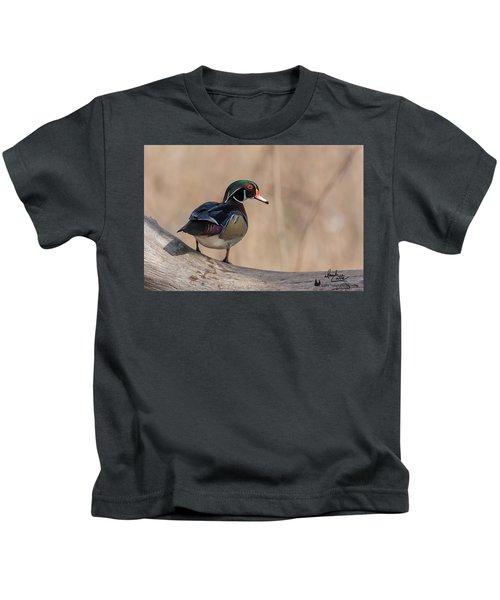 Watchful Wood Duck Kids T-Shirt