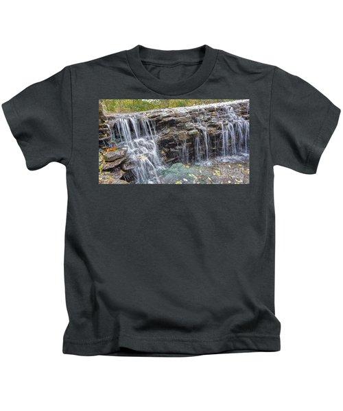 Waterfall @ Sharon Woods Kids T-Shirt