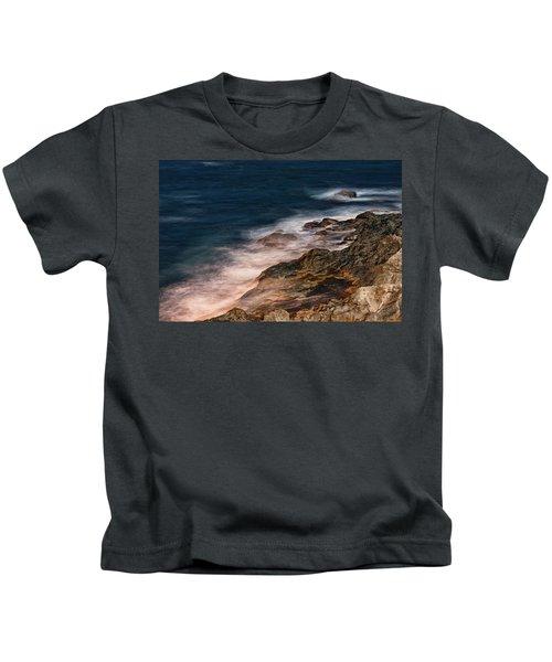 Waves And Rocks At Sozopol Town Kids T-Shirt