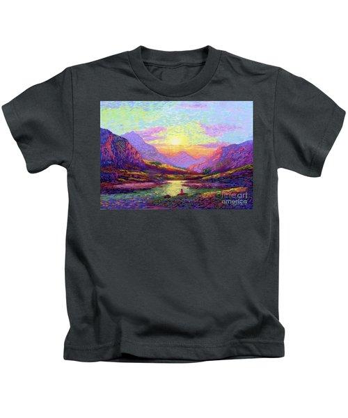Waves Of Illumination Kids T-Shirt
