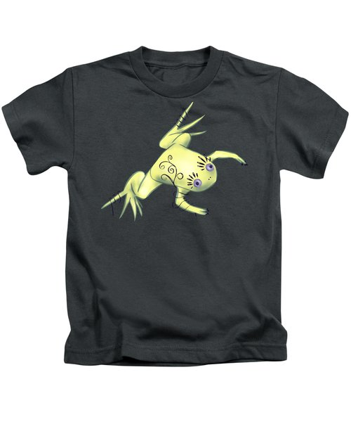 Weird Frog With Funny Eyelashes Kids T-Shirt