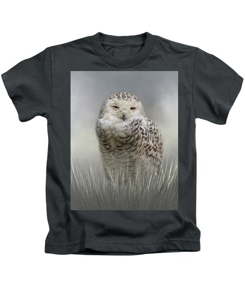 White Beauty In The Field Kids T-Shirt