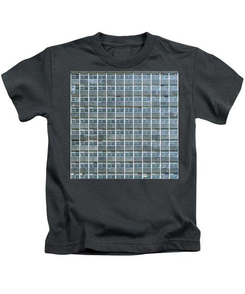 Windows Pattern Modern Architecture Kids T-Shirt
