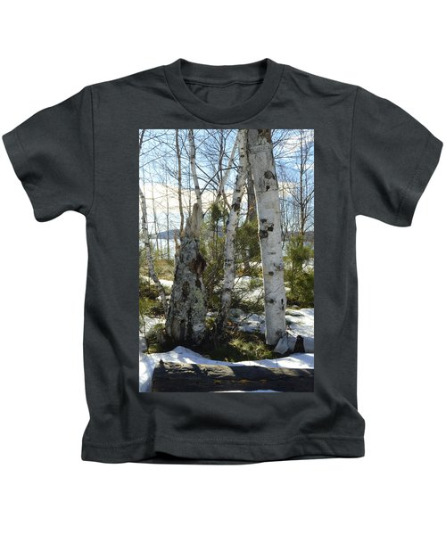 Winter Birch Kids T-Shirt
