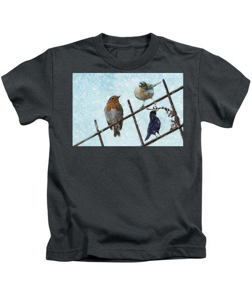 Winter Birds Kids T-Shirt