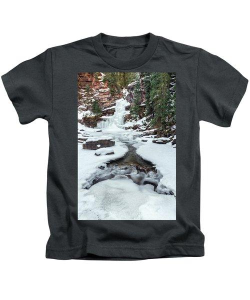 Winter Falls Kids T-Shirt