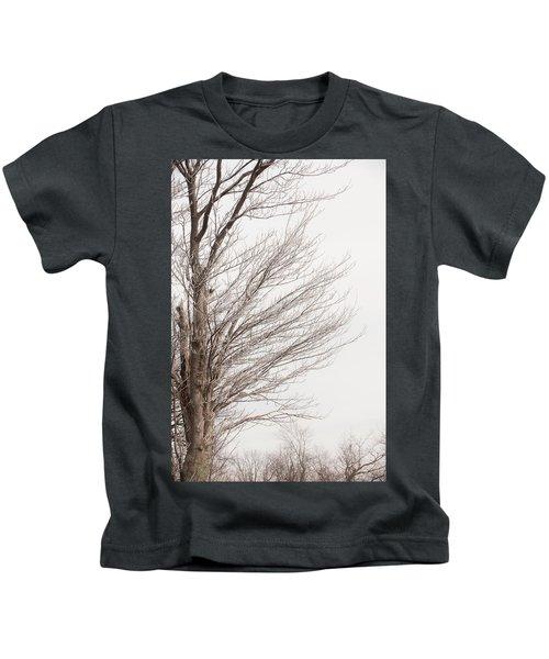 Winter Hoarfrost Kids T-Shirt